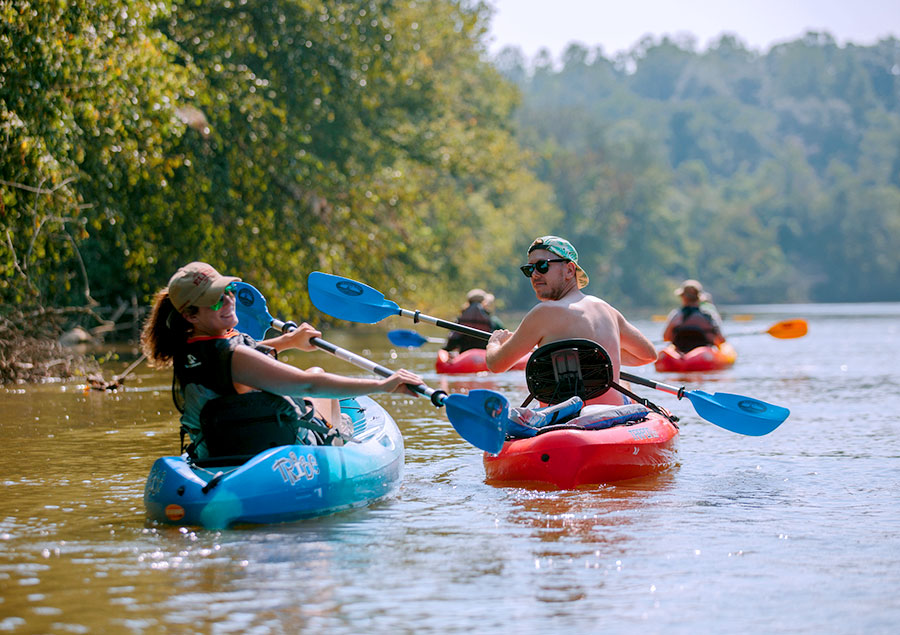 Kayaking on the Yadkin