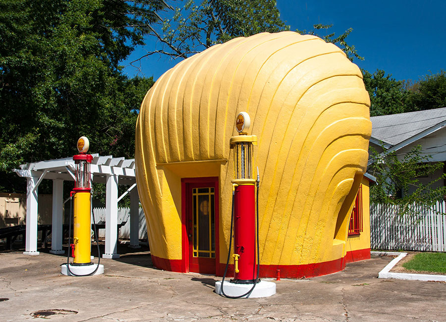 Clamshell Shell Station