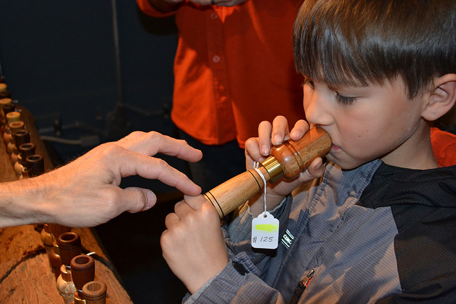 Boy with duck call