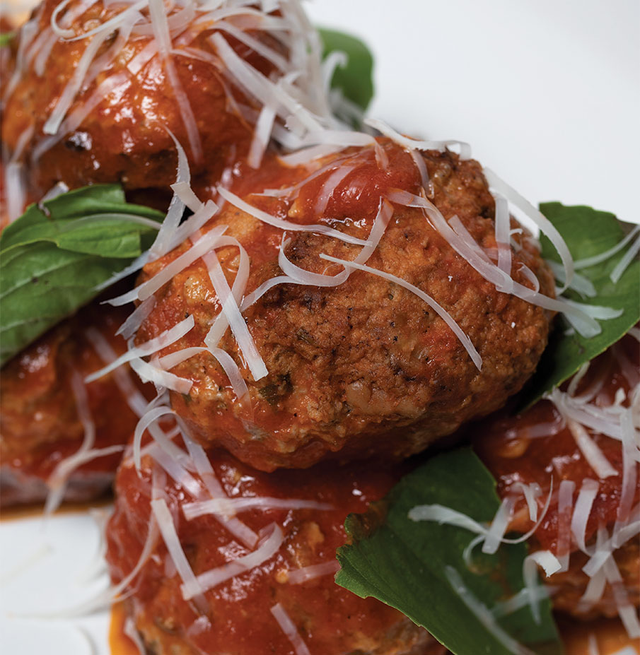 Two-Cheese Meatballs
