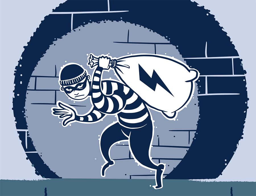Stealing Electricity and Meter Tampering May Mean
