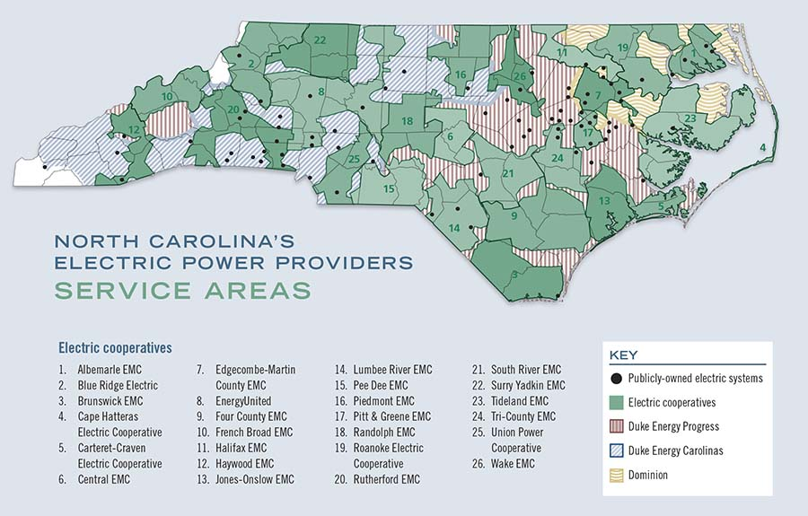 A Guide To North Carolina S Electric Power Providers