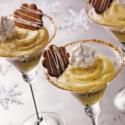 Creamy Eggnog Parfaits