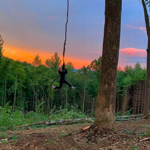 My aunt took this photo on a farm near Sparta while my cousins and I were swinging on a large grapevine. I am 15 years old, and my parents are member of Blue Ridge Energy. —Adeline Bowers, Crumpler, Blue Ridge Energy