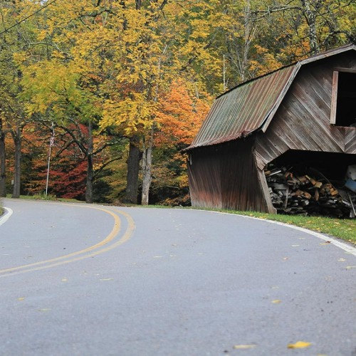 """Living in the country, directions to our house always include: """"After the leaning barn, we are the road on the right."""" —Amie Jo Platt, Zionville, Blue Ridge Energy"""