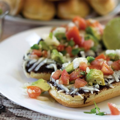 Cheesy Black Bean Toast