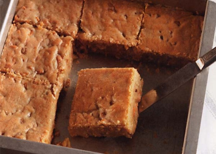 Butterscotch-Walnut Blondies