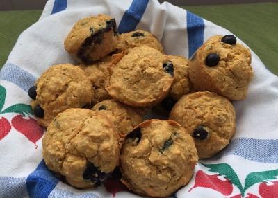 Blueberry-Banana Corn Muffins