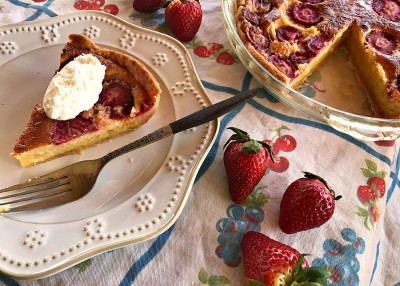 Orange-Scented Strawberry Chess Pie