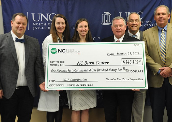 Electric Co-ops Raise Funds for NC Jaycee Burn Center