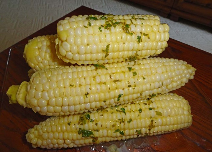 Cooler Corn with Cilantro Lime Butter