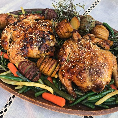 Sesame Cornish Hens