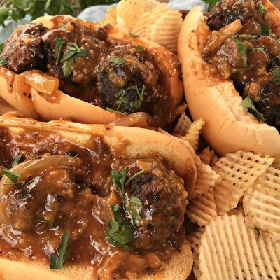 Country-Style Steak Meatballs