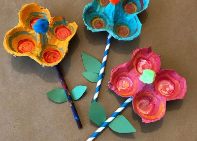 Mother's Day Craft: Egg Carton Bouquet