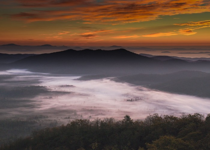 Last year, I spent a week in our mountains chasing color and light. I arrived at Pounding Mill Overlook early one morning. The clouds lit up a beautiful scene for one of my best ever sunrise photos. —David Peak, Dobson, Surry-Yadkin EMC