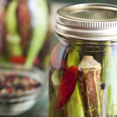 Dilly Pickled Okra