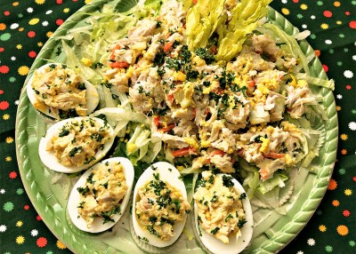 Doggone Good Chicken Salad & Deviled Eggs