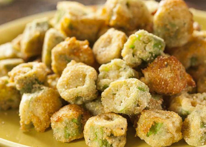 Fee Fie Faux Fried Okra