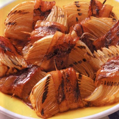 Grilled Bacon-Onion Appetizers