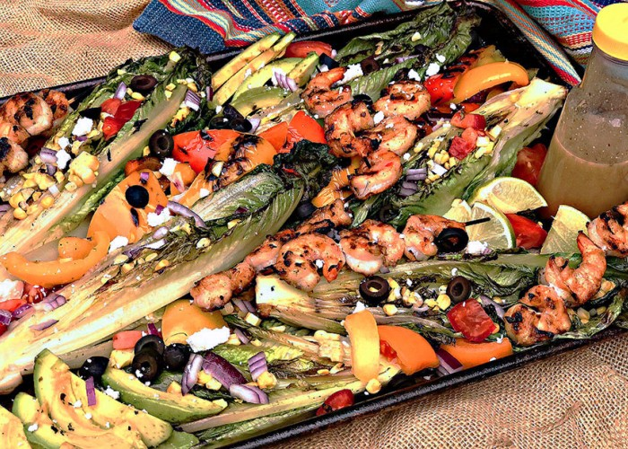 Grilled Southwestern Romaine