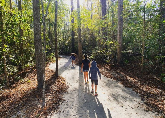 I enjoy adventures with my children and we love all of the NC state parks. Here we are at the beginning of a short hike in Lumber River State Park. —Herman Ospina, Lumberton, Lumbee River EMC