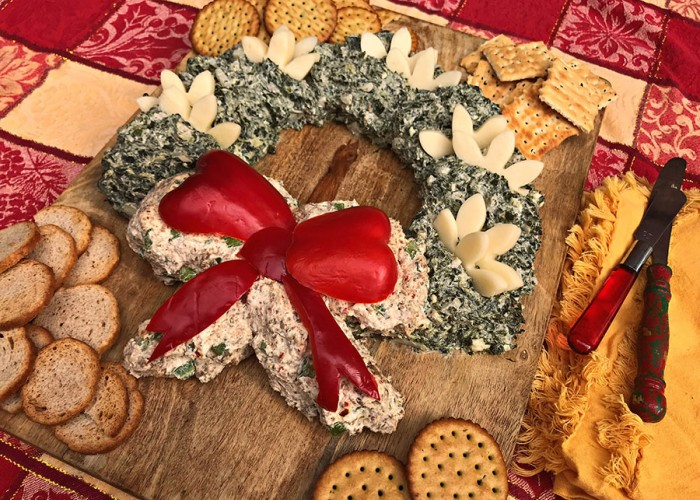 Holiday Cheese Wreath Spread