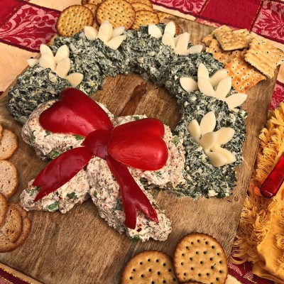 Holiday Wreath Cheese Spread