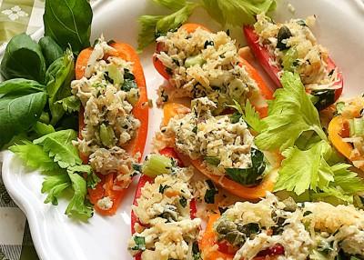 Italian Crab Salad Stuffed Peppers