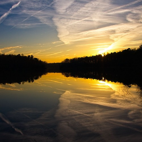 I live near Falls Lake and make it a point to visit frequently, looking for the rare trifecta of the lake reflections, the colors of the sky and the cloud patterns. On this winter morning, I felt I hit the jackpot! —John Stone, Wake Forest, Wake Electric