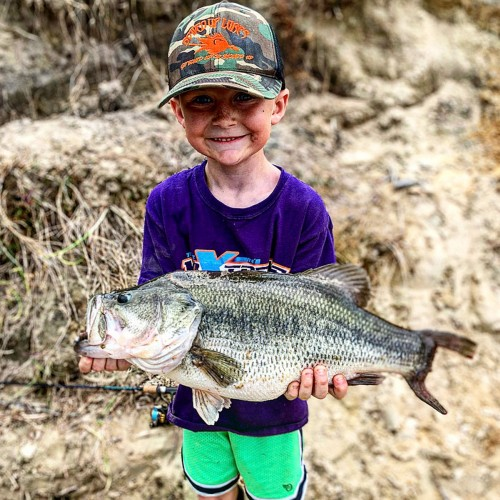 Seven-year-old Landon Brothers caught a 10.5-pound largemouth bass in a private pond in Camden County. The fish was safely released alive. —Josh Brothers, South Mills, Albemarle EMC