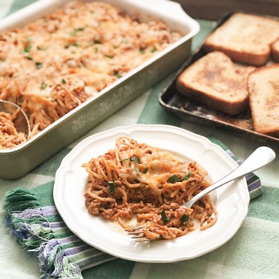 Cafeteria Baked Spaghetti