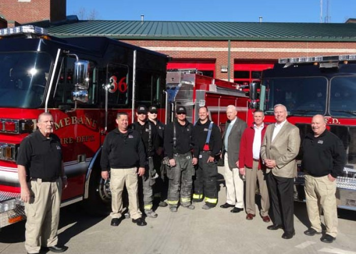 Piedmont EMC funding helps  buy new fire trucks for Mebane