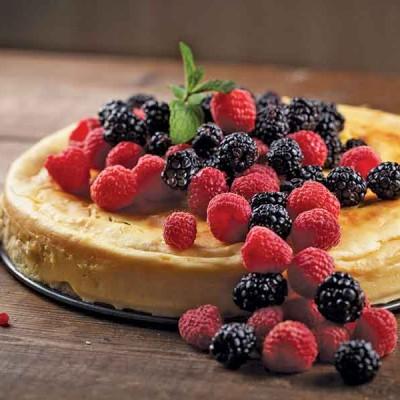 New York-Style Honey Cheesecake
