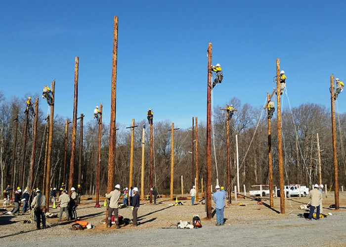 Co-op Lineworkers Continue to Hone Skills at Nash Community College
