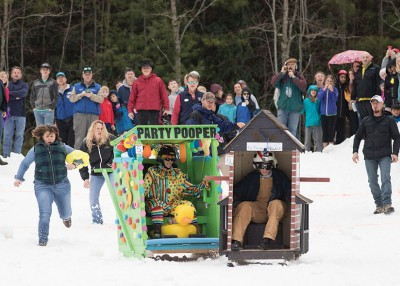 Outhouse Races Bring Something Different to the Slopes