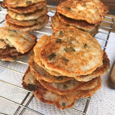 Parmesan & Green Onion Cornbread Crisps