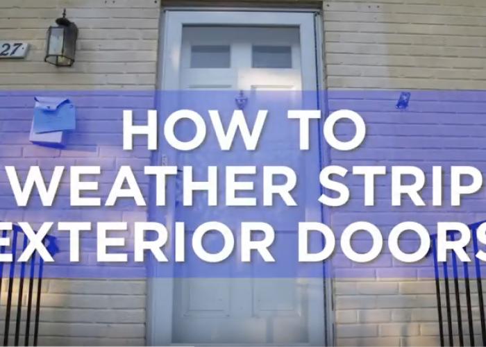 Video: How to Weatherstrip Exterior Doors