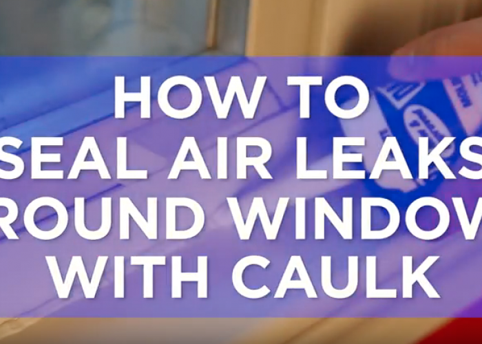 Video: How to Caulk Around Windows
