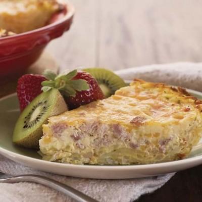 Potato-Crusted Ham Quiche