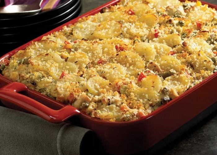 Potato, Turkey and Veggie Casserole