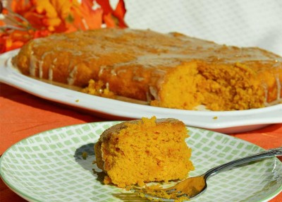 Pumpkin Cake with Apple Cider Vinegar
