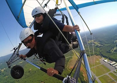 Hang gliding, hiking and relaxing in Burke County