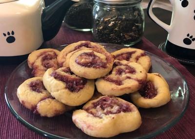 Raspberry Swirl Cookies