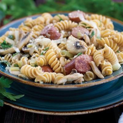 Rotini with Sausage and Mushrooms