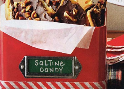 Saltine Cracker Candy With Toasted Pecans