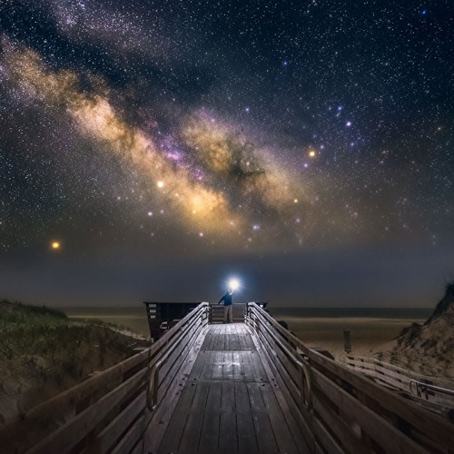 With little light pollution and relative isolation, the Outer Banks is like a playground for an astrophotographer. My wife and I feel in love with the place. Photo taken at Frisco Beach.—Scott Cureton, Polkton, a member of Pee Dee Electric