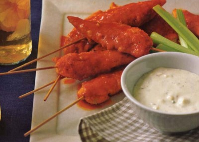 Skewered Buffalo Chicken Tenders