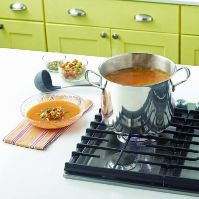 Roasted Butternut Squash Soup With Charred Vegetables