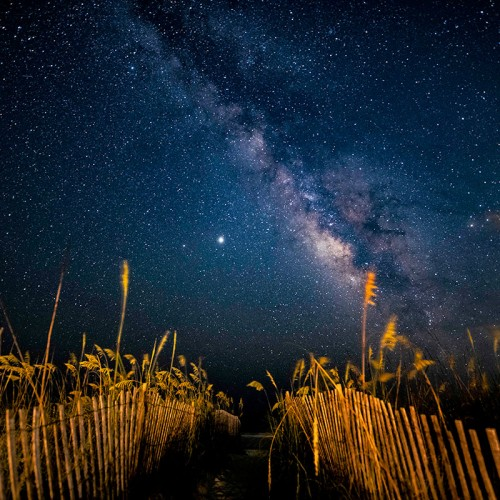 At midnight on Ocean Isle Beach, this moonless night showcased the Milky Way in full view. My wife Debbie and I love the many different faces of the beach throughout the year. —Steven Wingfield, Ocean Isle Beach, Brunswick Electric