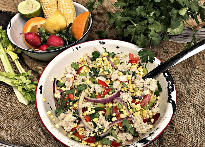 Summer Corn & Crab Salad